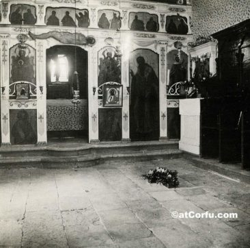 Benitses - inside San Stefano church 1917