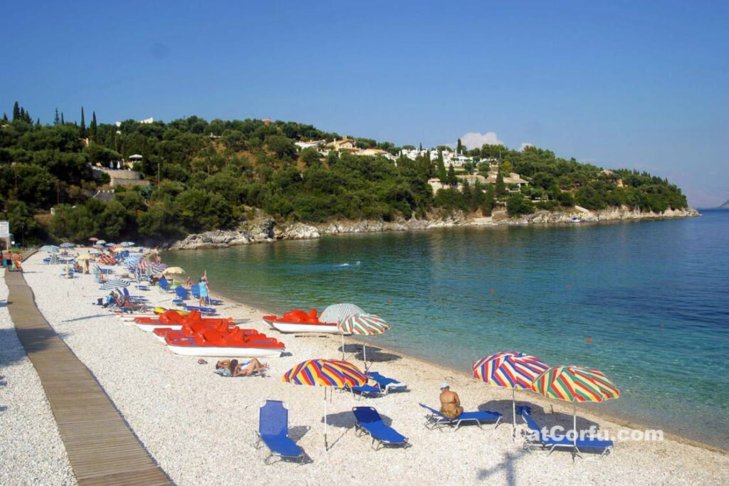 Corfu photos - beach of Kalami