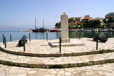 Corfu photos - in the port of Kassiopi