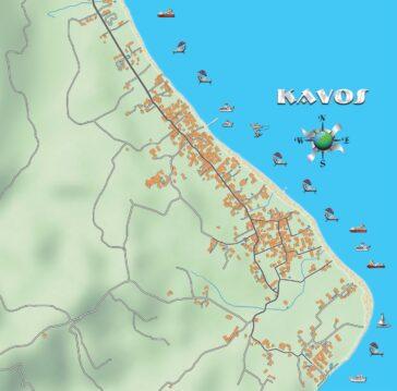 Kavos map