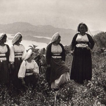 Corfiot girls in the countryside 1903