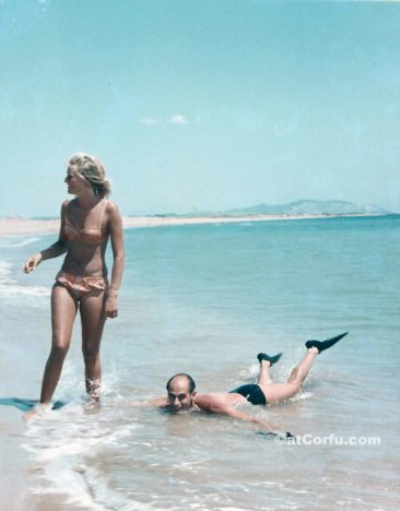 Benitses - at Chalikounas beach-1974