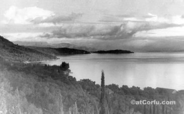 Benitses - view from Parmenidis hills at 1940