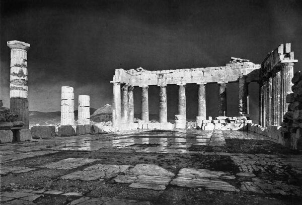 Greece old photos - Pic of the Parthenon at 1908