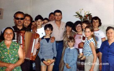 Benitses - Antreas Kontos family at 1972