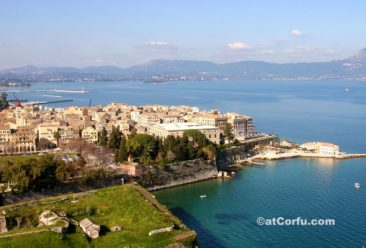 Corfu photos - the town from old fortress