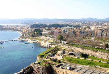 Corfu photos - town from old fortress