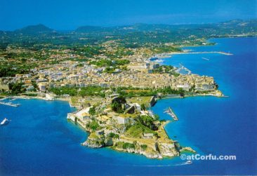 Corfu photos - old fortress from air
