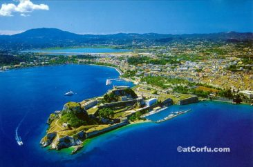 Corfu photos - Old fortress from the air