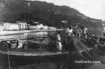 Benitses - Fishermen at 1970