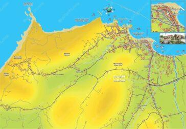 Sidari map