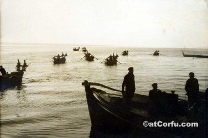 Benitses - leaving the port for fishing-1970