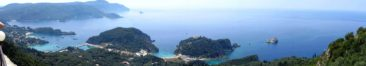 Corfu photos - Paleokastritsa from Lakones
