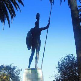 Corfu - Achilles statue at Achilleion