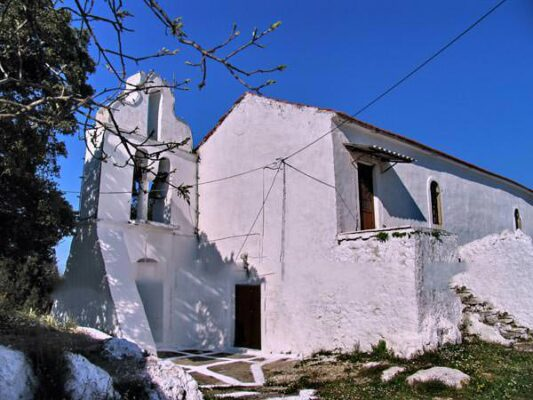 Agia Triada church above Benitses