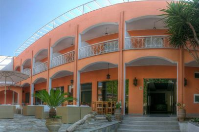 Hotel Benitses arches in Corfu