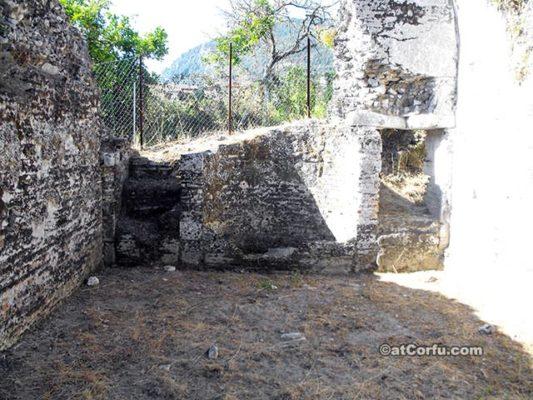 Benitses Corfu-Roman baths east room floor