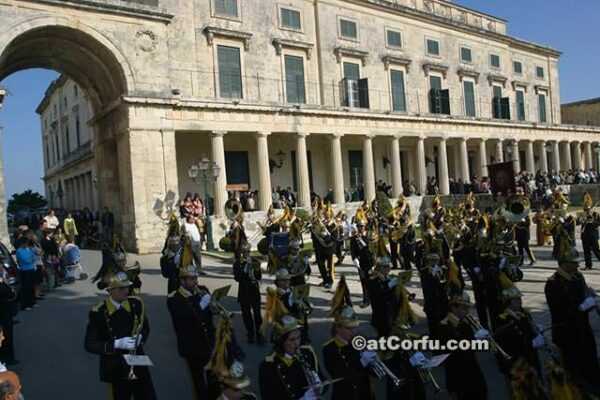 Corfu - Easter Saturday at palace