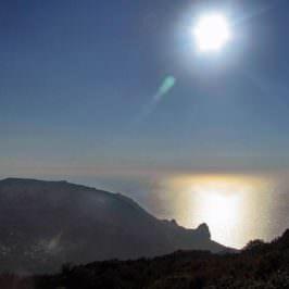 Across Corfu island