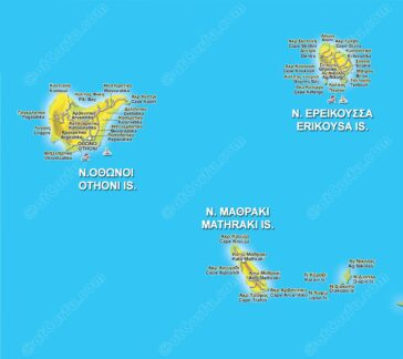 Diapontia islands map