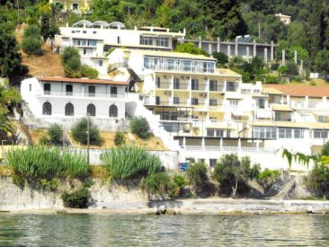 El Greco hotel in Benitses - view from the beach