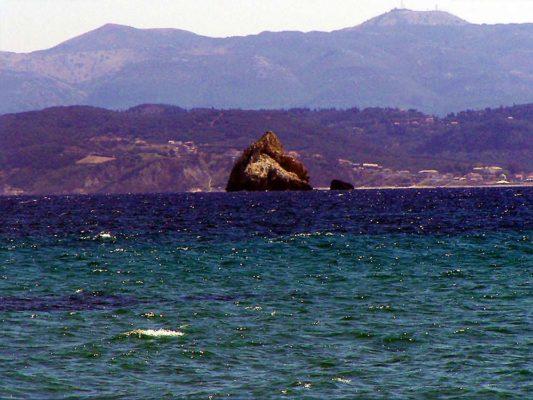 Corfu as seen from Ereikoussa