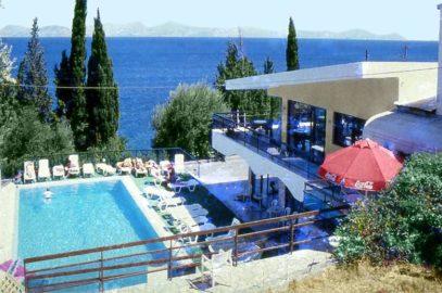Karina hotel in Benitses-swimming pool