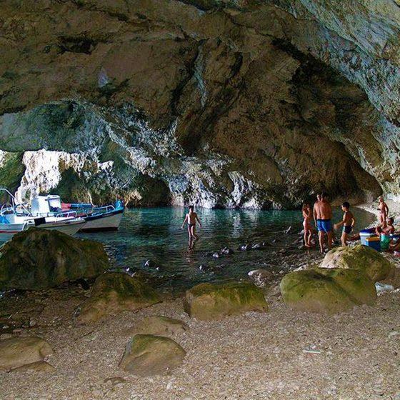 Kalypso cave at Othonoi