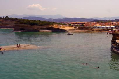 Sidari tourist resort at north Corfu