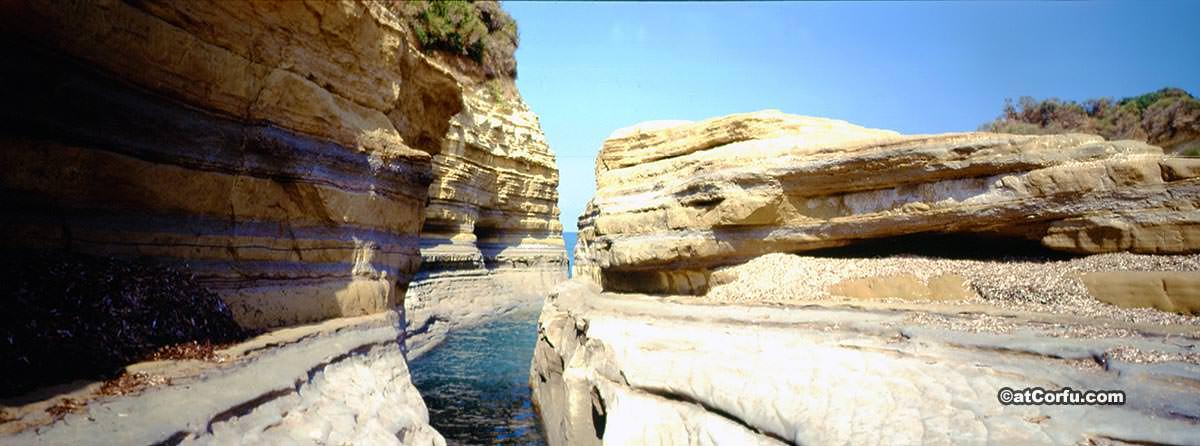 Rocks at Sidari Corfu