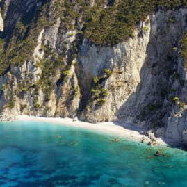 Small beach Between Paleokastritsa and Ermones