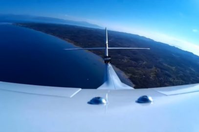 Flying over south east Corfu