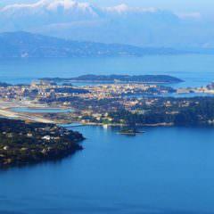 Korfu-Stadt vom Stavros Berg