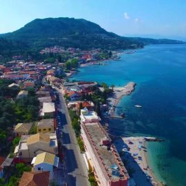 Benitses aerial view
