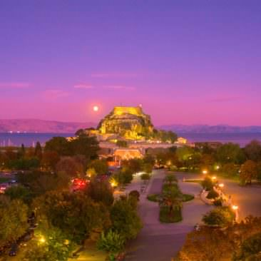 Corfu Guide: Esplanade square and the Old fortress