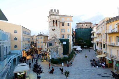 The Bell Tower of Annunziata in Corfu