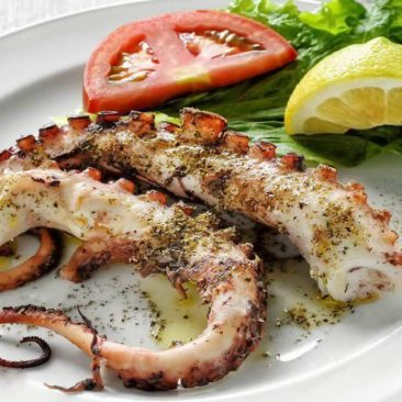 Grilled octopus by Captain Octopus