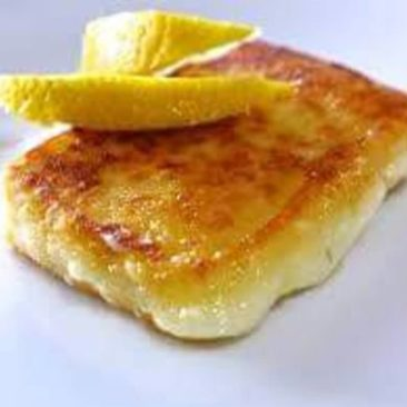 Saganaki cheese by Captain Octopus