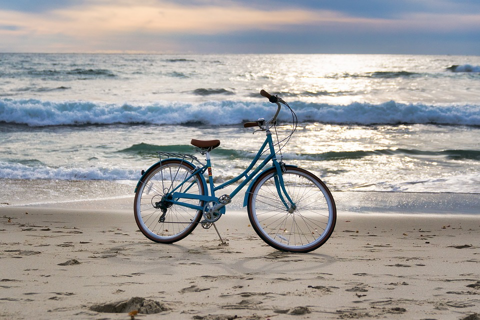 A Bicycle on the beach