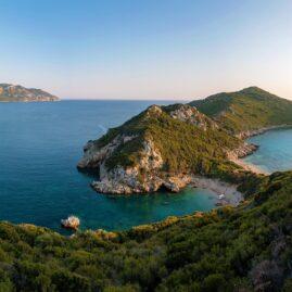 Porto Timoni double beach in Corfu