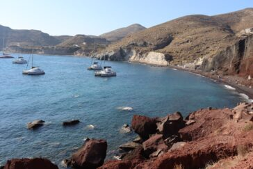 Red beach in Santorini