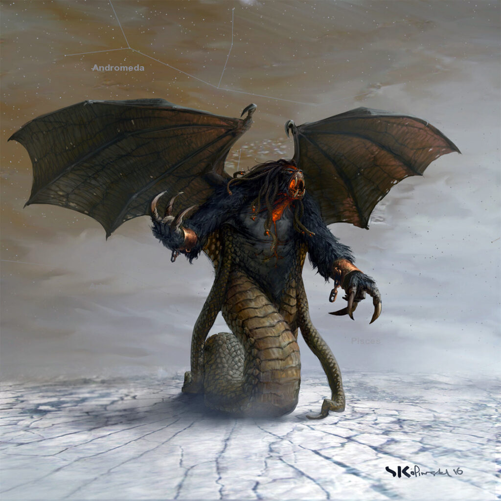 The mighty Typhon, father of all monsters